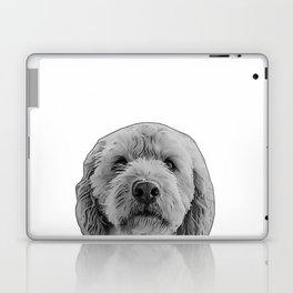 golden doodle b&w Laptop & iPad Skin