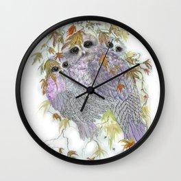 Owl Hugs Wall Clock