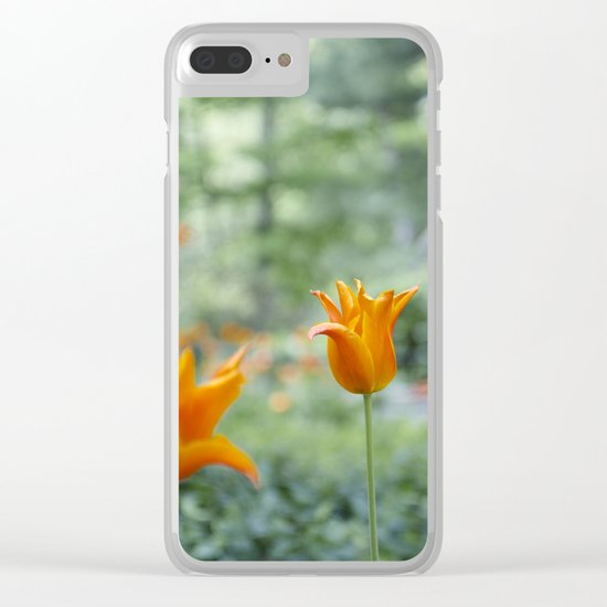 Tulips in orange Clear iPhone Case