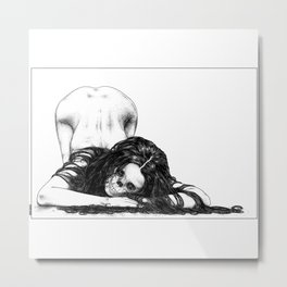 asc 819 – La Madone des cimetières (The woman in the dark) Metal Print
