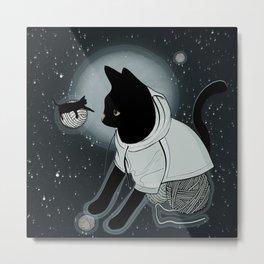 The Black Cat Tale Metal Print