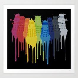 Dalek Extermination Rainbow Art Print
