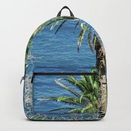Palm Trees Meet Sea Backpack