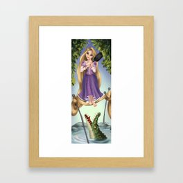 A Tangled Mansion Framed Art Print