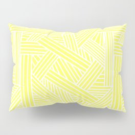 Sketchy Abstract (White & Light Yellow Pattern) Pillow Sham