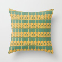 Fresh Flowers Collection Pattern 3 Throw Pillow