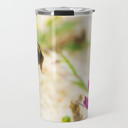 the flight of bumble bee on the bunes Travel Mug