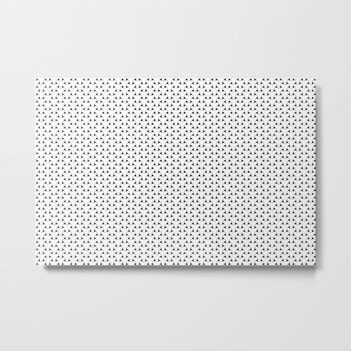 Black and White Basket Weave Shape Pattern - Graphic Design Metal Print