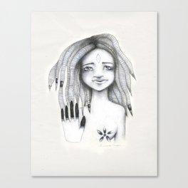 Soy el observador de mis propios pensamientos Canvas Print