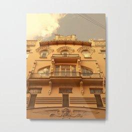 Beautiful Art Nouveau in Riga, Latvia Metal Print