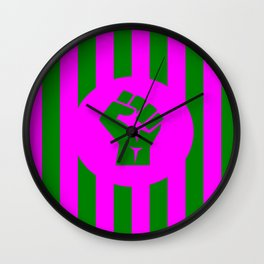 feminist fist logo Wall Clock