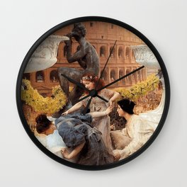 The Colosseum 1896 by Sir Lawrence Alma Tadema   Reproduction Wall Clock