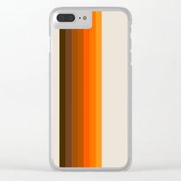Retro Golden Rainbow - Straight Clear iPhone Case