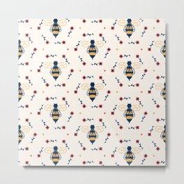 Floral Honeycomb Metal Print