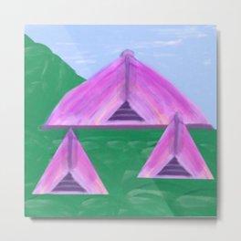 Yurt Tent Three Metal Print