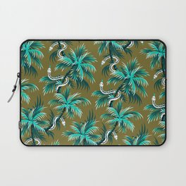 Snake Palms - Light Teal Mustard Laptop Sleeve
