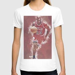 basketball player art 5 T-shirt