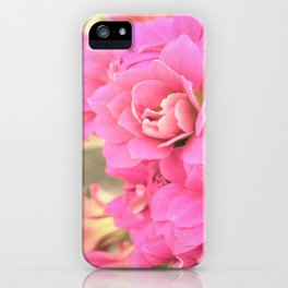 peach colored flower iPhone Case