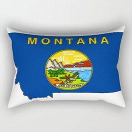 Montana Map with Montana State Flag Rectangular Pillow