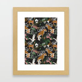 Leopards at night Framed Art Print