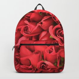 Red Roses Bouquet Flowers Valentines Love Backpack