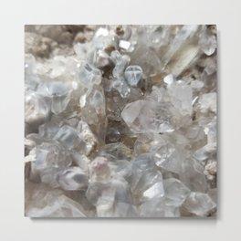 Phantom Crystal Cluster Metal Print