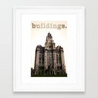 buildings Framed Art Prints featuring Buildings by Wis Marvin