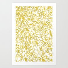 Golden Doodle petals Art Print