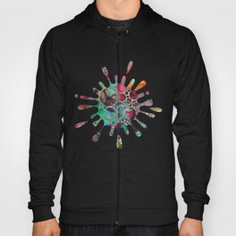 Dots on Painted Background 6 Hoody