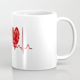 Social Worker Heartbeat Coffee Mug