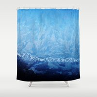 jack frost Shower Curtains featuring Frost by Sasha H