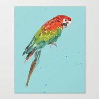 central perk Canvas Prints featuring PARROT PERK  by eastwitching