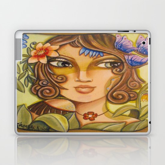 Mona Lisa's Butterflys Laptop & iPad Skin