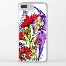 Flowers Two Clear iPhone Case