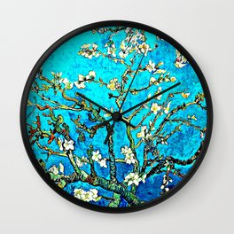 Almond Branches by Vincent van Gogh Wall Clock