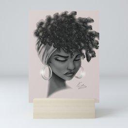 Hoops and Scarf Mini Art Print
