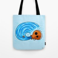 aquarius Tote Bags featuring Aquarius by Giuseppe Lentini