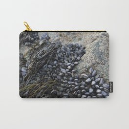 Mussel Bed on Ocean Weathered Rocks Carry-All Pouch