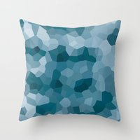 gem Throw Pillows featuring gem by annmariep