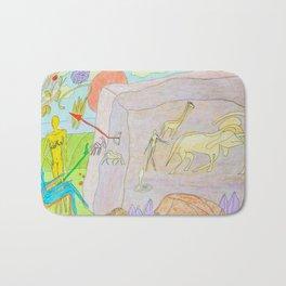 Rock paintings Bath Mat