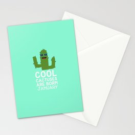 Cool Cactuses born in JANUARY T-Shirt D3uut Stationery Cards