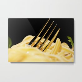 Drowning in food Metal Print