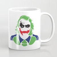 the joker Mugs featuring Joker by Sourire Art