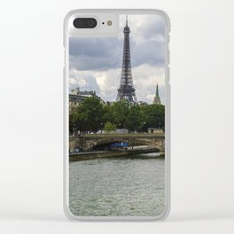 Eiffel Tower and the River Seine Clear iPhone Case
