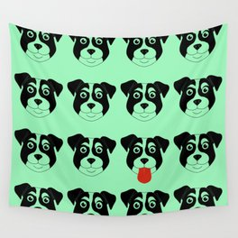 Dogs Green Wall Tapestry