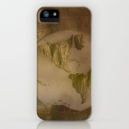 Geographic map.  iPhone Case