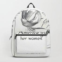 Amercian woman Backpack