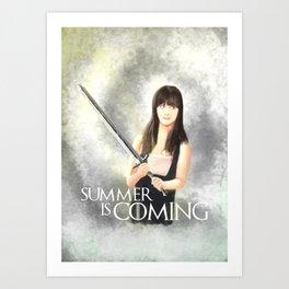 Summer is Coming Art Print