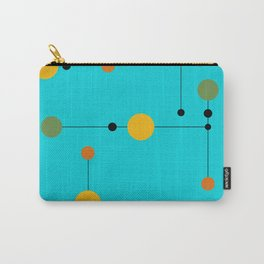 Dot line Dot in Aqua Carry-All Pouch
