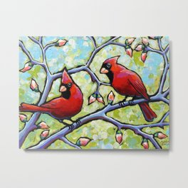 Two Cardinals Metal Print